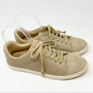 J SLIDES Beige Low Top Lace Up Sneakers